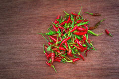 Rode Spaanse pepersachtergrond, Selectieve nadruk Royalty-vrije Stock Fotografie