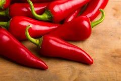 Rode Spaanse peperspeper Stock Afbeelding