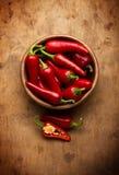Rode Spaanse peperspeper Stock Foto