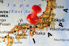 Rode speld op Kobe, Japan Royalty-vrije Stock Afbeeldingen
