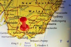 Rode speld op Melbourne Australië Stock Foto