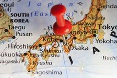 Rode speld op Osaka, Japan Royalty-vrije Stock Foto's