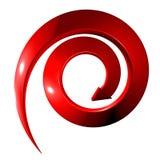 Rode spiraalvormige 3D pijl vector illustratie