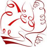 Rode spiraalvormige elementen Stock Afbeelding