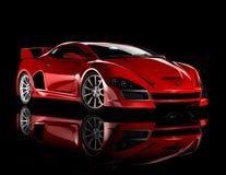 Rode sportwagen 1 Stock Afbeelding