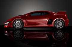 Rode sportwagen 4 Royalty-vrije Stock Afbeelding