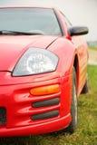 Rode sportwagen. stock afbeeldingen