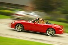 Rode sportwagen Royalty-vrije Stock Foto's