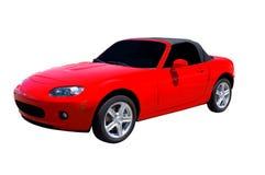 Rode Sportwagen Stock Afbeeldingen