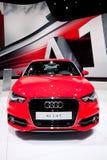 Rode sportwagen Audi A1 Stock Afbeelding