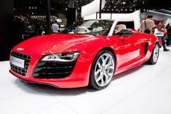 Rode sportwagen Audi R8 Stock Foto