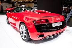 Rode sportwagen Audi R8 Stock Fotografie