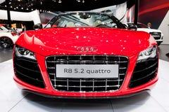 Rode sportwagen Audi R8 Royalty-vrije Stock Fotografie