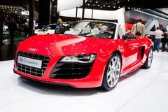 Rode sportwagen Audi R8 Royalty-vrije Stock Afbeelding