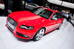 Rode sportwagen Audi S4 Royalty-vrije Stock Afbeeldingen