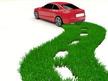 Alternatieve brandstofauto - groene energie royalty-vrije illustratie