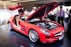 Rode sportwagen Mersedes SLS Royalty-vrije Stock Foto