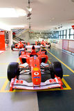 Rode sportwagenFormule 1 Ferrari Stock Afbeelding