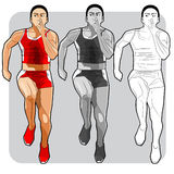 Rode sprinter Royalty-vrije Stock Afbeelding