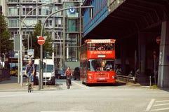 Rode stad sightseeingsbus Stock Foto's