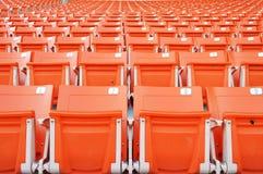 Rode stadionzetel Stock Afbeeldingen
