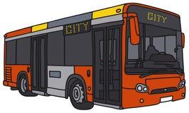 Rode stadsbus royalty-vrije illustratie