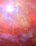 Rode Starscape Stock Afbeelding