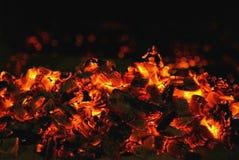 Rode steenkool stock foto