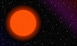 Rode ster in ruimte stock foto