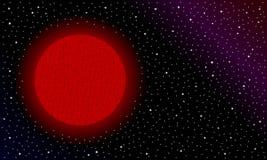 Rode ster in ruimte royalty-vrije stock fotografie