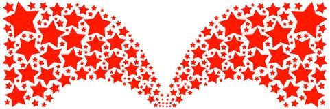 Rode sterren Royalty-vrije Stock Foto