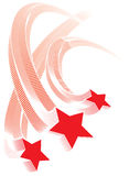 Rode sterren Royalty-vrije Stock Afbeeldingen