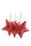 Rode sterren Royalty-vrije Stock Foto's