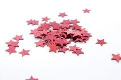 Rode sterren Stock Foto