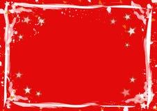 Rode sterren en strepenachtergrond vector illustratie