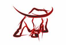 rood zwarte boze stier als achtergrond vector illustratie illustratie bestaande uit hoorn. Black Bedroom Furniture Sets. Home Design Ideas