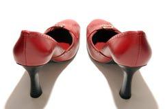 Rode Stilletos stock afbeeldingen