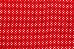 Rode stip katoenen lijstdoek stock afbeeldingen