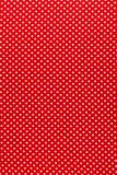 Rode stip katoenen stoffen verticale mening royalty-vrije stock foto's