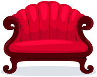 Rode stoel Stock Foto
