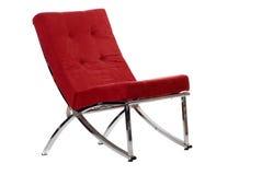 Rode stoel stock afbeeldingen