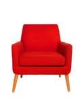 Rode stoel stock foto's