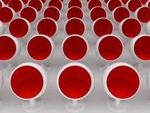 Rode stoelen vector illustratie