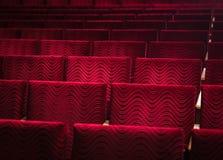 Rode stoelen in het theater Royalty-vrije Stock Afbeelding