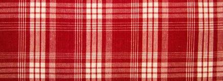 Rode stof in een kooi Stock Foto