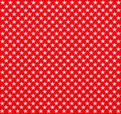 Rode stof met witte sterren Royalty-vrije Stock Afbeeldingen