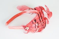 Rode stoffenbloem Royalty-vrije Stock Afbeeldingen