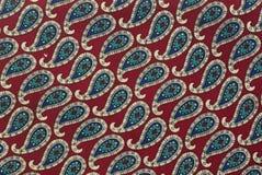 Rode stoffentextuur Stock Afbeeldingen