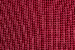 Rode stoffentextuur Royalty-vrije Stock Foto's