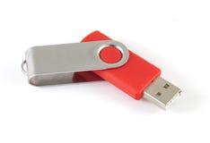 Rode Stok USB royalty-vrije stock afbeelding